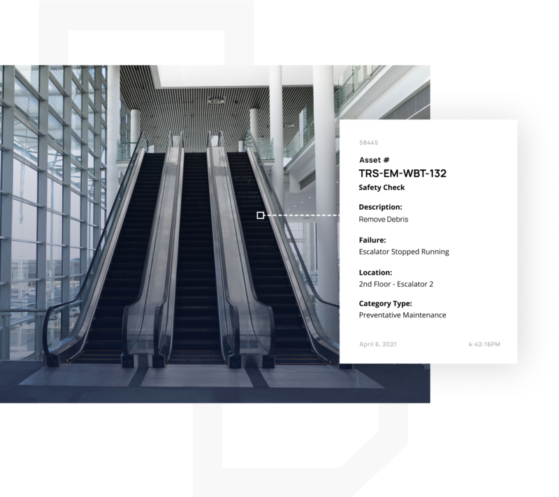 Optimizing escalators with CMMS system