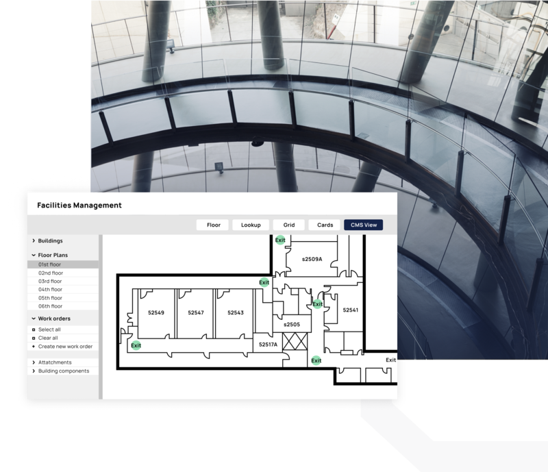 CMMS facilites management by floor mapping