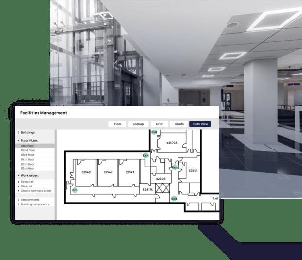 Facilites management floor planning CMMS display
